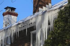 An Ice Dam Is A Ridge Of Ice That Builds Up Along The Edge Of Your Roof, At  The Gutter Line, Trapping Melting Water Behind It. Ice Dams Are Caused By  Uneven ...